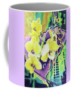Yellow Orchids Of The Heart Coffee Mug