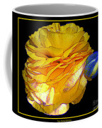 Yellow Ranunculus Flower With Blue Colored Edges Effect Coffee Mug