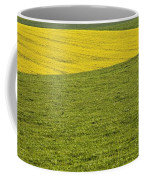 Yellow Rapeseed Growing Amongst Green Coffee Mug
