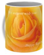 Yellow Rose Birthday Card Coffee Mug