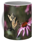 Yellow Swallowtail And Purple Coneflower Coffee Mug