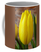 Yellow Tulip With Dew Coffee Mug