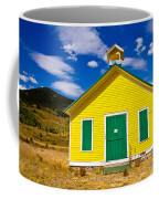 Yellow Western School House Coffee Mug
