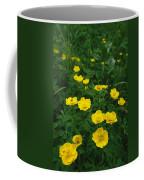 Yellow Wildflowers Blooming In Lush Coffee Mug