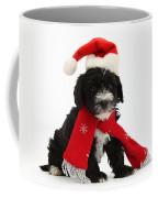 Yorkipoo Pup Wearing Christmas Hat Coffee Mug