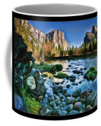 Yosemite Rocks In River Coffee Mug