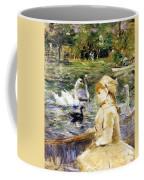 Young Girl Boating Coffee Mug by Berthe Morisot