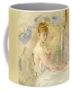 Young Girl Getting Up Coffee Mug