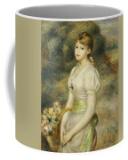 Young Girl With A Basket Of Flowers Coffee Mug