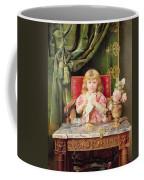 Young Girl With A Dove   Coffee Mug