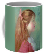 Young Girl With Long Hair In Profile Coffee Mug