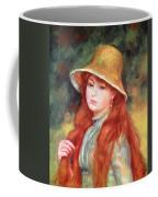 Young Girl With Long Hair Coffee Mug