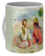 Young Girls On The Beach Coffee Mug