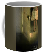 Young Lady By Open Door Coffee Mug