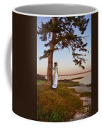 Young Lady In Edwardian Clothing By The Sea Coffee Mug