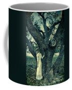 Young Lady In White By Tree Coffee Mug