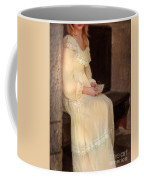 Young Lady In Yellow Gown With Letters Coffee Mug