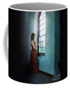 Young Lady Looking Out Window Coffee Mug
