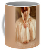 Young Lady Sitting In Satin Gown Coffee Mug