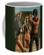 Young Man Holding A Mirror For A Woman Coffee Mug
