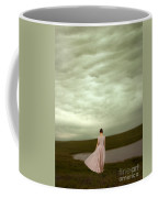 Young Woman In Long Gown By Pond Coffee Mug