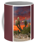 Yucca Blooming Sunset-moonset Coffee Mug