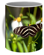 Zebra Longwing And Flowers Coffee Mug
