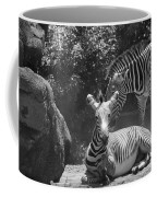 Zebras In Black And White Coffee Mug