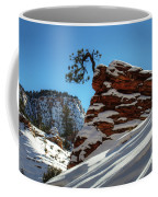 Zion National Park In Winter Coffee Mug