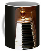A Shot Of Bourbon Whiskey And The Black And White Piano Ivory K Coffee Mug