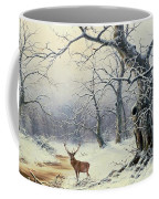 A Stag In A Wooded Landscape  Coffee Mug