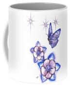 Butterfly Amongst The Flowers Coffee Mug