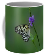 Butterfly On Flower  Coffee Mug by Sandy Keeton