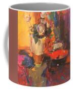 Clarice Cliff Rose Table  Coffee Mug