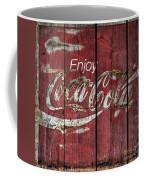 Coca Cola Sign Barn Wood Coffee Mug