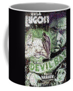 Devil Bat Movie Poster Horror Mosaic Coffee Mug
