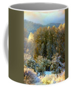 First Snow And Bosque Glow Coffee Mug