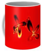 Flaming Red Flowers Coffee Mug
