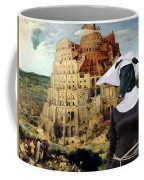 Galgo Espanol - Spanish Greyhound Art Canvas Print -the Tower Of Babel  Coffee Mug
