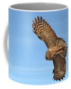 Great Gray Owl Plumage Patterns In-flight Coffee Mug