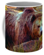 Grizzly Bear In Rocks Coffee Mug