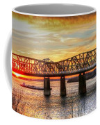 Harahan Bridge In Memphis,tennessee At Sunset Coffee Mug