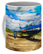 Hawker Hunter T7 Aircraft On Wood Coffee Mug