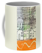 Houses By The River Coffee Mug by Linda Woods