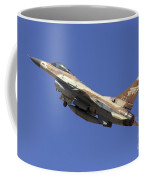 Iaf F-16a Fighter Jet On Blue Sky Coffee Mug