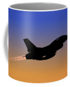 Iaf F-16b Fighter Jet At Sunset Coffee Mug