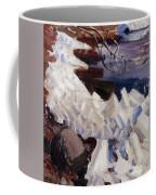 Ice Breaking On The Shores Of Kalela Coffee Mug