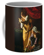 Judith And Maidservant With The Head Of Holofernes Coffee Mug by Artemisia Gentileschi