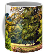 Landscape Under A Big Oak In Autumn Coffee Mug
