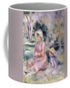Madame Renoir And Her Son Pierre Coffee Mug by Pierre Auguste Renoir